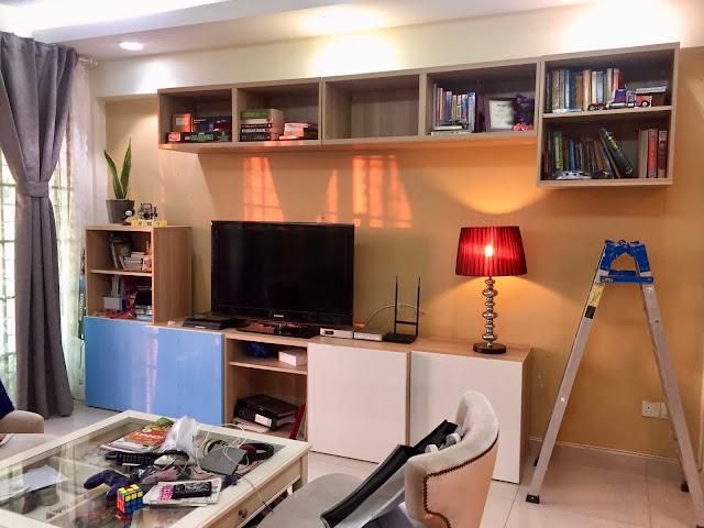 Kabinet Tv + Kabinet Buku