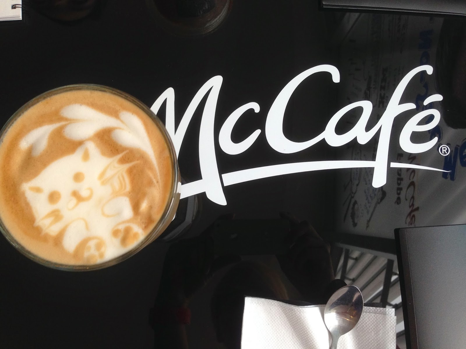 First cup of McCafe Latte