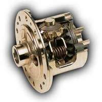 The cross-sectional view of the limited-slip differential