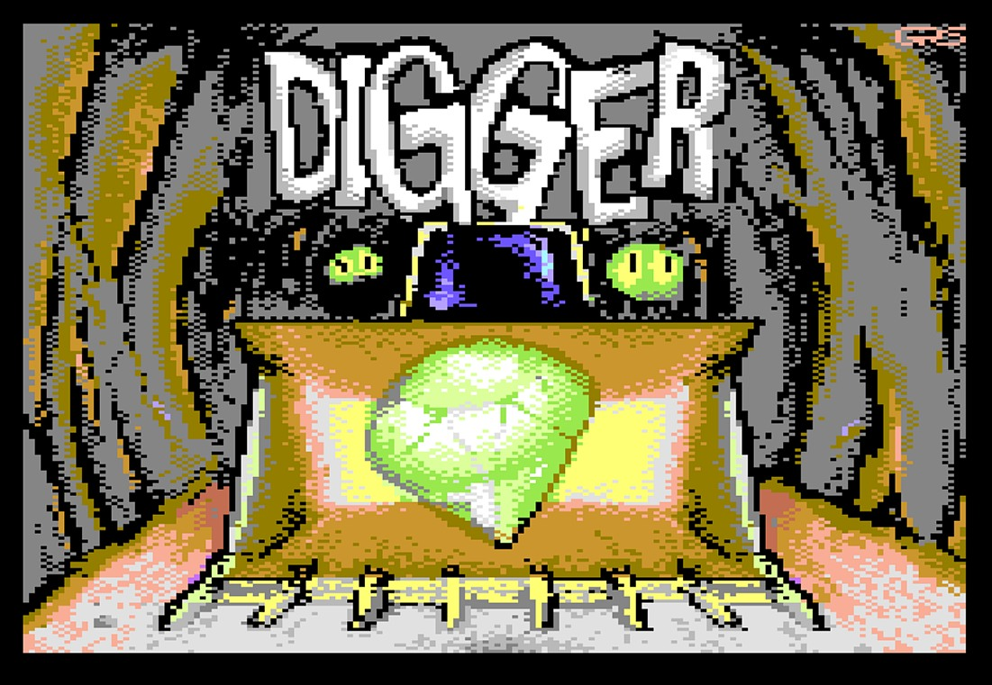 Indie Retro News: Digger - IBM PC classic remade for the C64 and