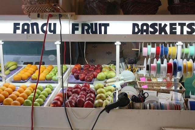 Fruit baskets at Lagomarcino's