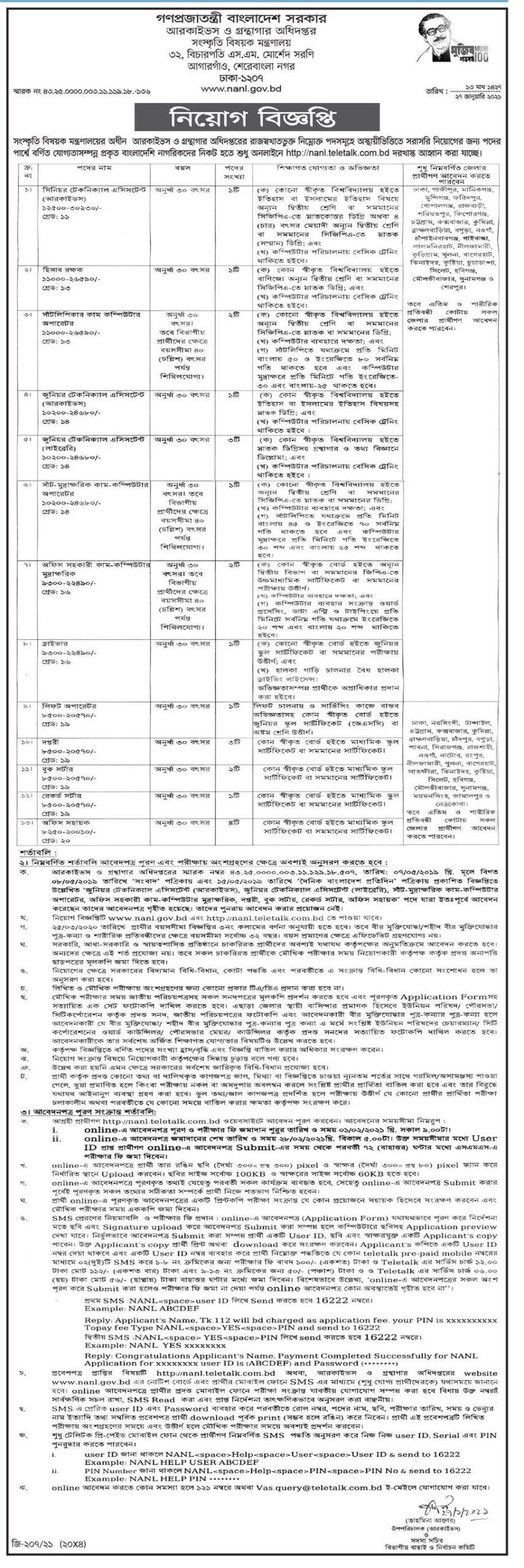 NANL JOB CIRCULAR 2021- BANGLADESH JOB NEWS