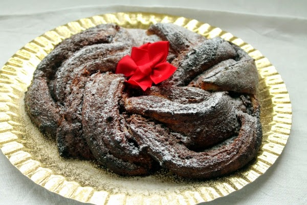 Estonian Kringle de chocolate