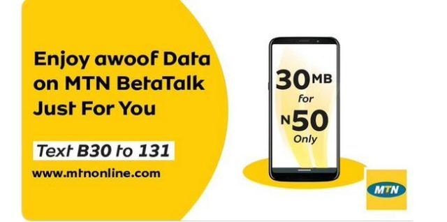 How to Activate MTN 30MB for N50 & 1GB for N1000 BetaTalk Plan
