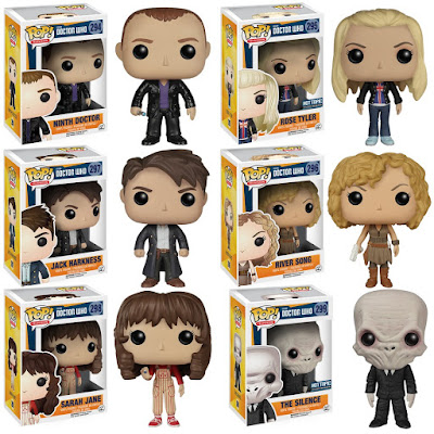 Doctor Who Pop! Television Series 2 Vinyl Figures by Funko - Ninth Doctor, Rose Tyler, Captain Jack Harkness, River Song, Sara Jane Smith & The Silence