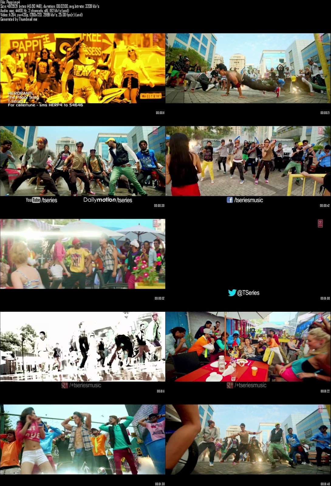 Mediafire Resumable Download Link For Video Song The Pappi Song - Heropanti (2014)