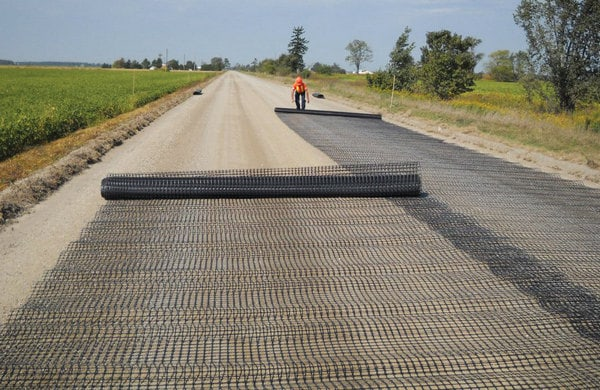 Geotextiles in road construction