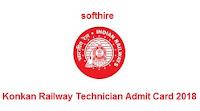 Konkan Railway Technician Admit Card