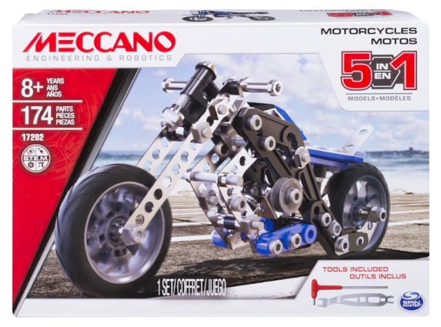 Meccano 5 in 1 Motorcycle Set Box