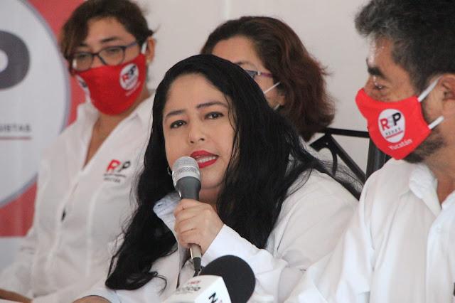 Ninive Zuñiga Zetina, candidata de Redes Sociales Progresistas para la alcaldía de Mérida