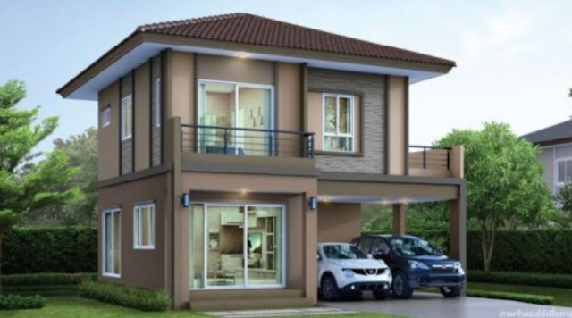low budget simple two storey house design