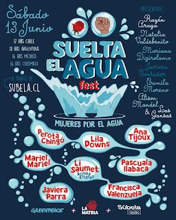 La Matria, Greenpeace y Súbela Radio se unen en un festival en línea que busca visibilizar el problema del agua en Chile