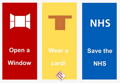 Open a window, Wear a cardi, save the nhs