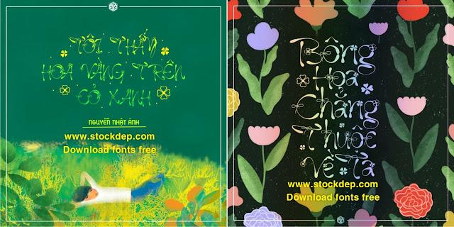 Download fonts tiếng việt hoa lá cành