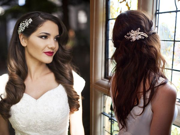 Wedding Hairstyle with a Hair Accessory