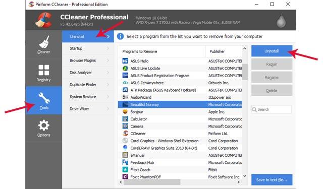 Cara Menghapus Software di Laptop dengan CCleaner