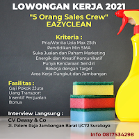 Walk In Interview di CV. Deasy & Co Surabaya Januari 2021