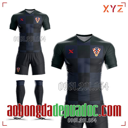 Áo Croatia 2019 Sân Khách Màu Đen Đẹp Và Độc