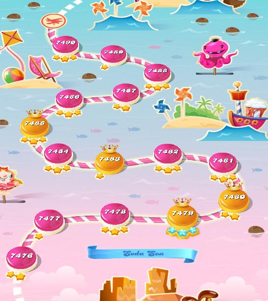 Candy Crush Saga level 7476-7490