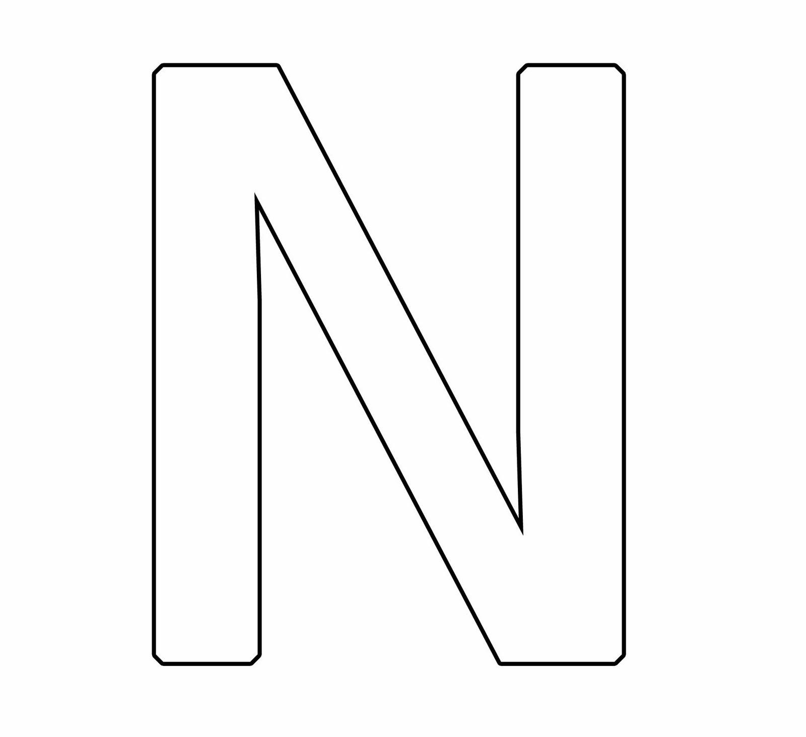 Letra N Mayuscula Para Colorear Alfabeto Para Imprimir
