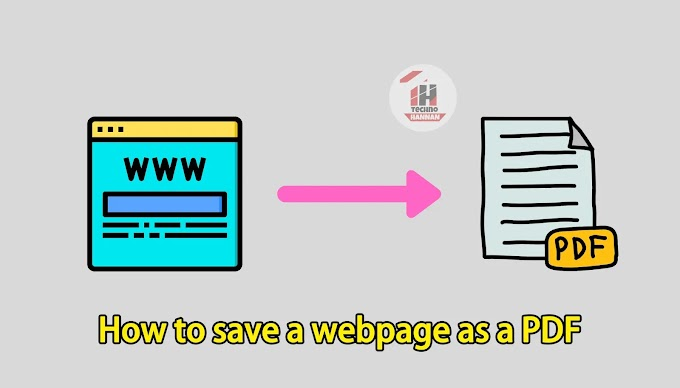 How to save a website page as a PDF
