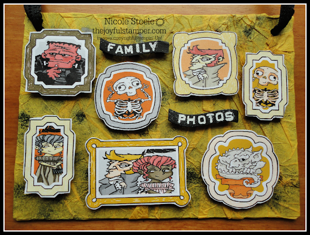 Halloween decor piece using Monster Bash DSP and chipboard packaging by Nicole Steele The Joyful Stamper