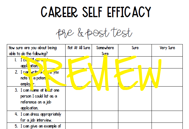 self efficacy in career self-efficacy in career strategic interventions are required to keep young people who are disadvantaged because of poverty, cultural obstacles, or linguistic barriers from dropping out of school recent studies showing a relationship between a student's belief structure and behavior suggest that self-efficacy beliefs may be an imp.