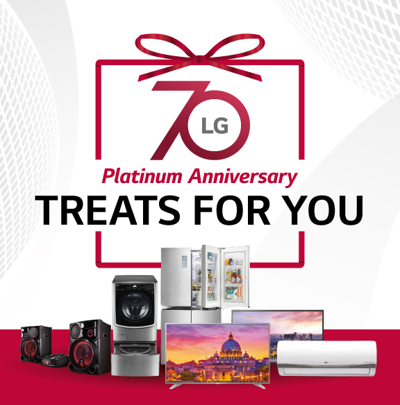 LG PH 70th Platinum Anniversary Treats for You