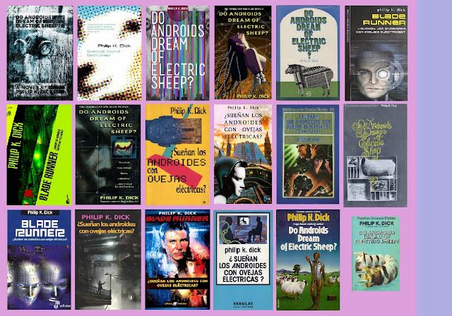 portadas de la novela de ciencia ficción ciberpunk ¿Sueñan los androides con ovejas eléctricas? de Philip K. Dick