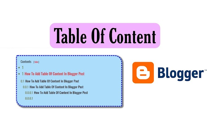 Blogger Table Of Content (TOC)  Automatically Add In Every Blog Post 2021 [Working]