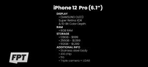تسريب جميع مواصفات وأسعار طرازات iPhone 12 الأربعة المنتظرة