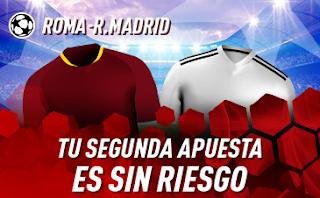 sportium promo Champions Roma vs Real Madrid 27 noviembre