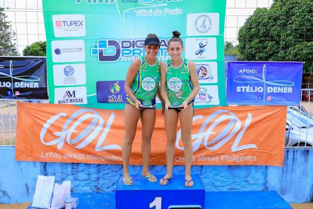 Dupla rondoniense é destaque no Circuito Amazônia de Vôlei de Praia e conquista medalha de ouro