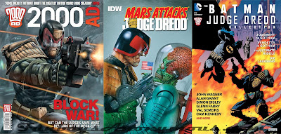 a collection of judge dredd comic covers including judge dredd vs batman