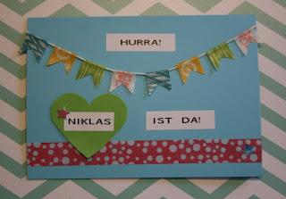 Babykarte Niklas hellblau