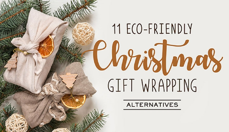 11 Eco-friendly Christmas Wrapping Ideas for Your Beauty Gifts #infographic