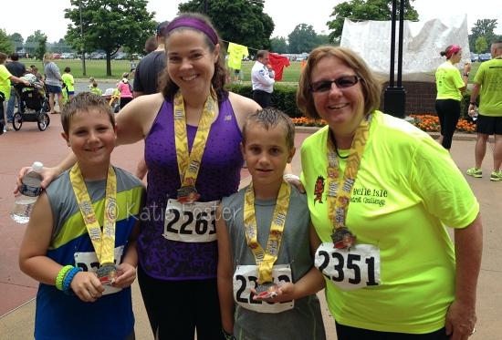 Kids' first 5K race