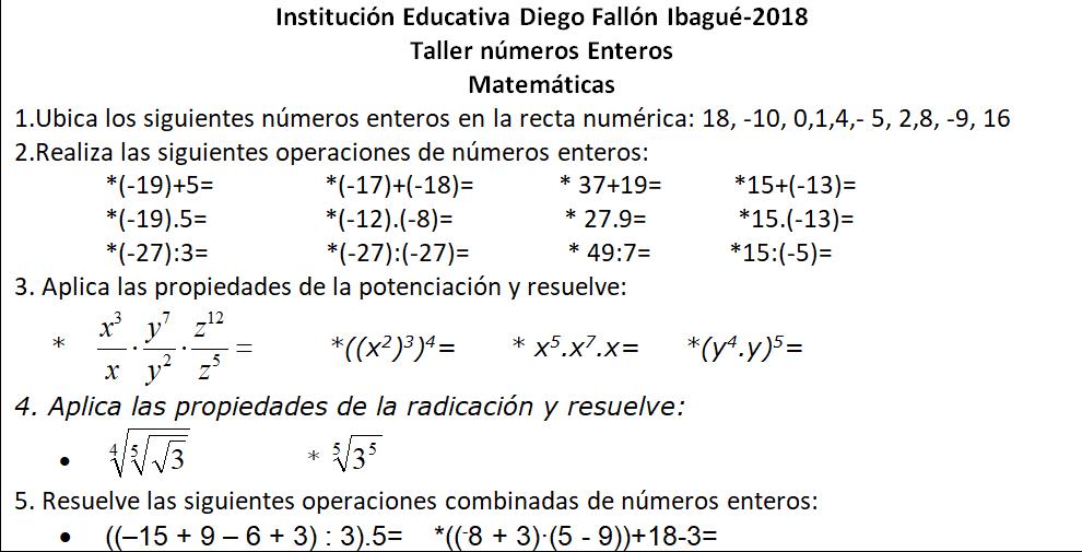 I.E Diego Fallón Profesora Carolina Mate-Estadística: 2018