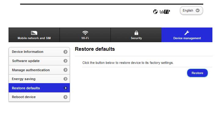 Reset Setting Modem
