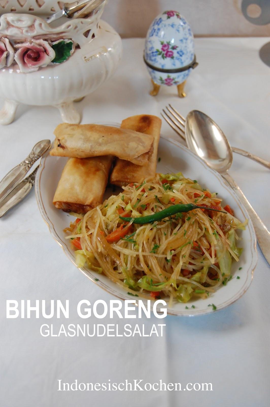 Rezept Bihun Goreng, Glasnudelsalat auf Javanischer Art