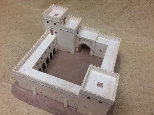 10mm Wargaming: Colonial Era Hill Fort from Paper Terrain