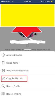 Copy Profile Link