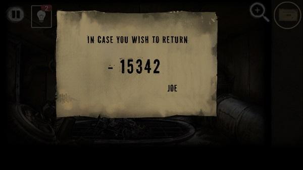 числа на бумаге в игре выход из заброшенной шахты