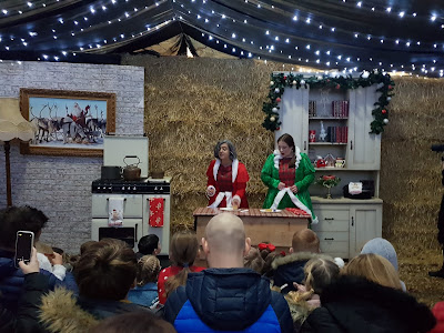 Cockfields Farm Christmas Experience Review Mrs Claus' Kitchen with Mary Berry
