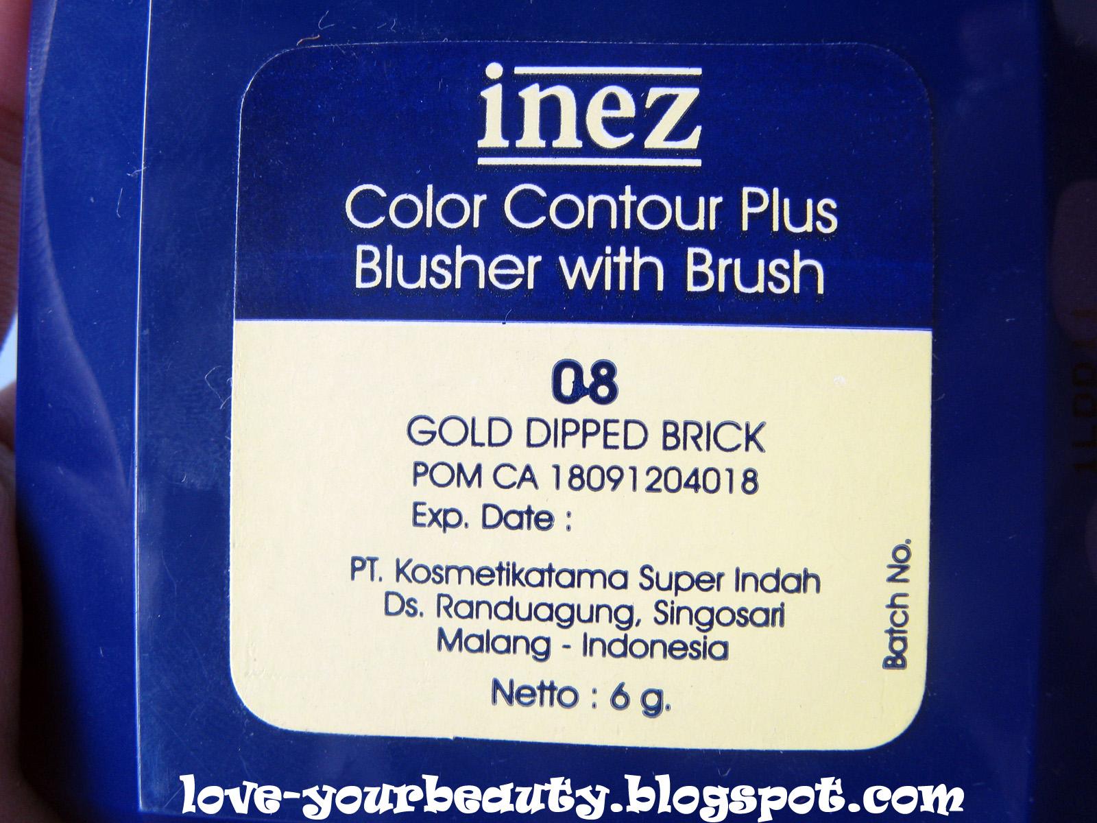 Inez Blusher 08 Gold Dipped Daftar Harga Terkini Dan Terlengkap Contour Plus Lipstick Riviera Blush Bagian Belakang Kemasan
