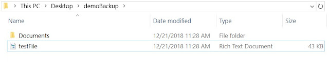 Post deletion of files and folders