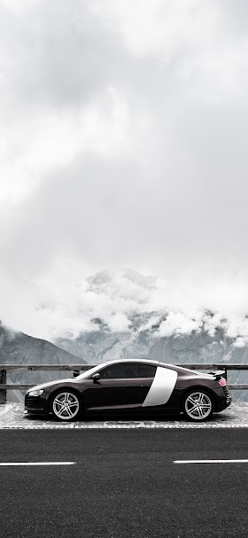 Audi R8 car on grossglockner wallpaper