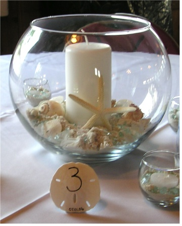 Low Cost Beach Wedding Centerpieces