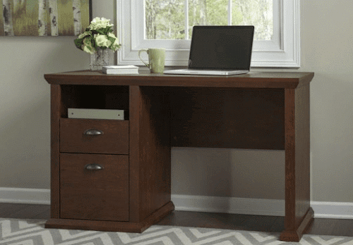 Brown color MDF office desk