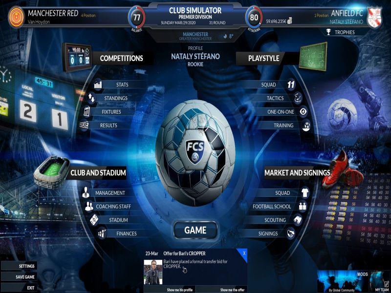 Football Club Simulator 20 PC Game Free Download